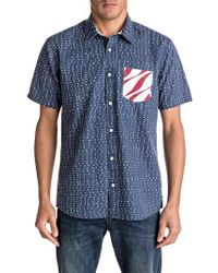 Quiksilver - Blue New Merica Print Shirt for Men - Lyst