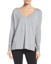 Zella - Gray She's Cute Terry Pullover - Lyst