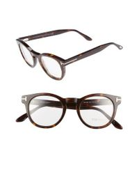 Tom Ford - Brown 48mm Round Optical Glasses - Classic Dark Havana - Lyst