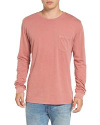 RVCA - Pink Ptc Pigment Long Sleeve T-shirt for Men - Lyst