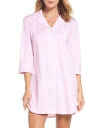 Lauren by Ralph Lauren - Pink Jersey Sleep Shirt - Lyst