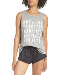 Spiritual Gangster - Gray Proactive Muscle Tank Top - Lyst