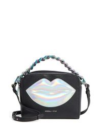 Kendall + Kylie | Black Lucy Lips Crossbody Bag | Lyst