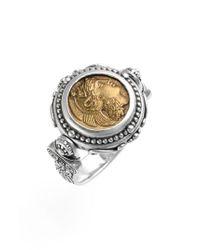 Konstantino - Metallic 'athena' Coin Flip Ring - Lyst
