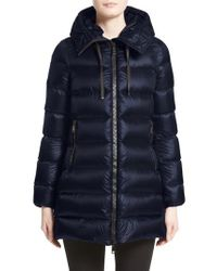 Moncler - Blue 'suyen' Water Resistant Hooded Down Puffer Coat - Lyst
