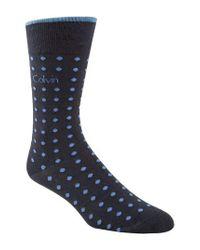 CALVIN KLEIN 205W39NYC - Blue Dot Socks for Men - Lyst
