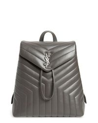 Saint Laurent - Black Medium Loulou Calfskin Leather Backpack - Lyst