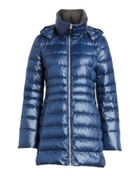 Andrew Marc   Blue Erin Hooded Down Coat   Lyst