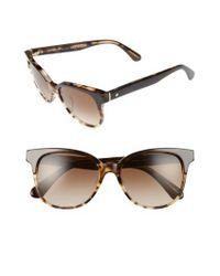 Kate Spade - Brown Arlynn 52mm Sunglasses - Lyst