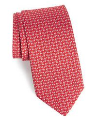 Ferragamo - Red Elias Print Silk Tie for Men - Lyst