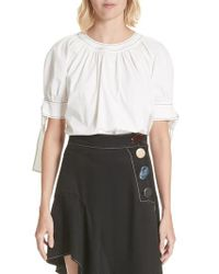 Rejina Pyo - White Hailey Short Sleeve Blouse Top - Lyst