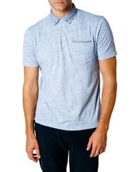 Good Man Brand Blue Trim Fit Polo Shirt for men