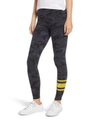 Sundry - Gray Camo Print Skinny Yoga Pants - Lyst
