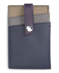 Want Les Essentiels De La Vie - Blue 'kennedy' Leather Money Clip Card Case - Lyst