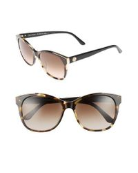 Juicy Couture - Black Label 56mm Cat Eye Sunglasses - Khaki Havanna Black - Lyst