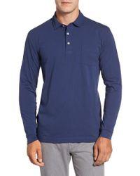 Peter Millar | Blue Mountainside Long-sleeve Pocket Polo for Men | Lyst