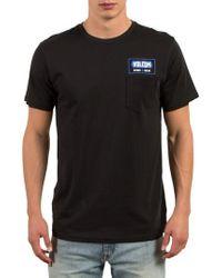 Volcom   Black Shop Graphic Pocket T-shirt for Men   Lyst
