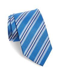David Donahue - Blue Stripe Silk Tie for Men - Lyst