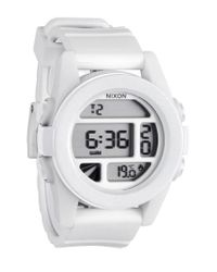 Nixon - Metallic 'the Unit' Round Digital Watch for Men - Lyst