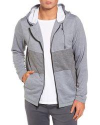 Hurley | Gray Dri-fit Disperse Colorblock Zip Hoodie for Men | Lyst