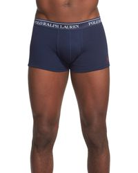 Polo Ralph Lauren - Blue 3-pack Cotton Trunks for Men - Lyst