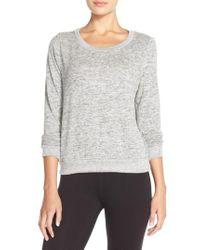 Make + Model - Gray Brushed Hacci Sweatshirt - Lyst