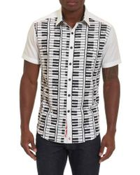 Robert Graham - White Play The Keys Print Short Sleeve Sport Shirt for Men - Lyst