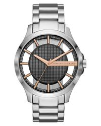 Armani Exchange - Metallic Bracelet Watch for Men - Lyst
