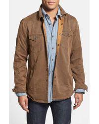 Jeremiah - Brown 'colt' Regular Fit Sueded Cotton Blend Shirt Jacket for Men - Lyst