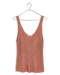 Madewell - Multicolor Monterey Sweater Tank - Lyst