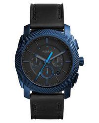 Fossil   Black Machine Chronograph Bracelet Watch for Men   Lyst