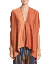 Zero + Maria Cornejo - Orange Drape Blouse - Lyst