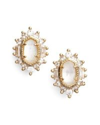 Kendra Scott - Metallic Kaia Stud Earrings - Lyst