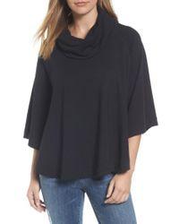 Caslon - Black Caslon Cowl Neck Sweatshirt - Lyst