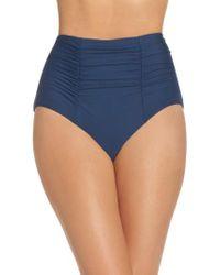 Becca - Blue Color Code High Waist Bikini Bottoms - Lyst