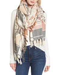 Frye - Multicolor Diamond Jacquard Cotton Scarf - Lyst