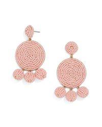 BaubleBar - Pink Marca Beaded Drop Earrings - Lyst