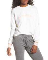 Spiritual Gangster | White Free Spirit Crop Sweatshirt | Lyst