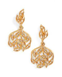 Oscar de la Renta - Metallic Drop Earrings - Lyst