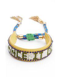 Rebecca Minkoff - Blue Dance It Out Seed Bead Bracelet - Lyst