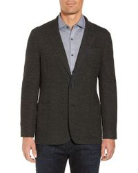 Bugatchi | Gray Raw Edge Cotton Blend Blazer for Men | Lyst