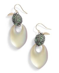 Alexis Bittar - Metallic Lime Lucite Earrings - Lyst