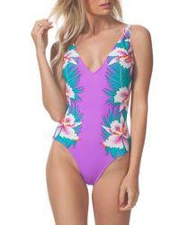 Rip Curl - Purple Hot Shot One-piece Swimsuit - Lyst