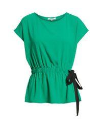 Pleione - Green Gathered Waist Side Tie Top - Lyst