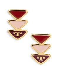 Tory Burch - Metallic Stud Earrings - Lyst