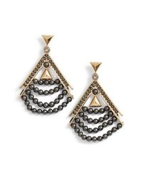 Givenchy | Metallic Beaded Drop Earrings | Lyst