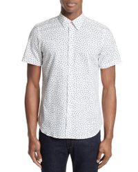 PS by Paul Smith | White Extra Trim Fit Half Moon Print Sport Shirt for Men | Lyst