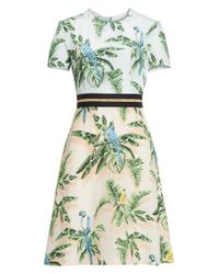 Stella McCartney - Multicolor Bird Of Paradise Silk Crepe De Chine Dress - Lyst