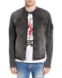 True Religion | Black Denim Moto Jacket for Men | Lyst