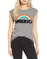 Pam & Gela | Gray Frankie America Muscle Tee | Lyst